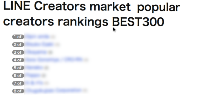 Top 300 LINE Creator